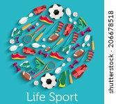 Circular Concept Of Flat Sport...