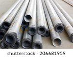 stock of iron pipes  on... | Shutterstock . vector #206681959