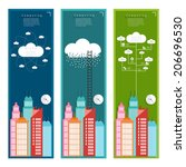 cloud city concept concepts in... | Shutterstock .eps vector #206696530