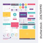 ui elements modern flat design