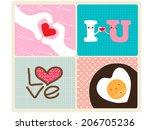 i love you | Shutterstock .eps vector #206705236