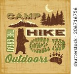 Hiking Camping Design Elements...