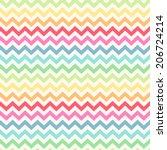 cute retro chevron seamless...   Shutterstock .eps vector #206724214
