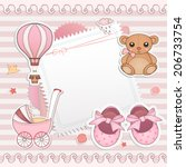 Baby Girl Shower Card. Arrival...