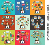 set of freelance jobs. | Shutterstock .eps vector #206734066