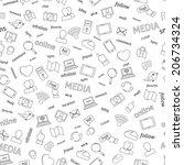seamless  social network media... | Shutterstock .eps vector #206734324