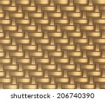 wicker seamless pattern  vector ... | Shutterstock .eps vector #206740390