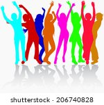 women silhouettes | Shutterstock .eps vector #206740828