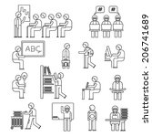 student icons  scholar people... | Shutterstock .eps vector #206741689