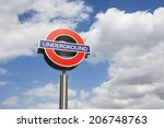 London Underground Sign On The...