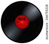 new gramophone vinyl lp record... | Shutterstock .eps vector #206755228