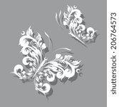 butterflies design | Shutterstock . vector #206764573