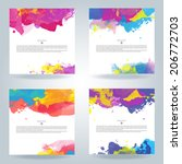 set of bright colorful vector... | Shutterstock .eps vector #206772703