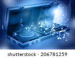 music mixing control of flight... | Shutterstock . vector #206781259
