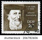 gdr   circa 1970  a stamp... | Shutterstock . vector #206782606
