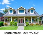 luxury house with beautiful... | Shutterstock . vector #206792569