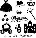 princess icon  vector... | Shutterstock .eps vector #206792890