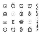 clock icons set. | Shutterstock .eps vector #206795650