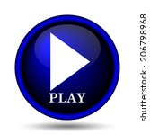 play icon. internet button on...   Shutterstock . vector #206798968
