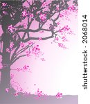 tree with pink flowers | Shutterstock .eps vector #2068014