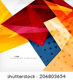 modern 3d glossy overlapping...   Shutterstock . vector #206803654