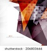 modern 3d glossy overlapping... | Shutterstock . vector #206803666