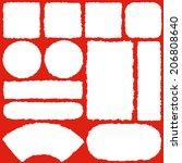japanese paper label. | Shutterstock .eps vector #206808640