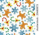 christmas background with cake  ... | Shutterstock .eps vector #20680873