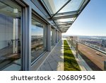 terrace with metal and glass... | Shutterstock . vector #206809504
