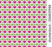 love polkadot background pattern | Shutterstock .eps vector #206835988