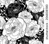 poppy pattern seamless vector...   Shutterstock .eps vector #206838580