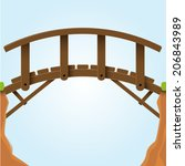 vector illustration. bridge. | Shutterstock .eps vector #206843989
