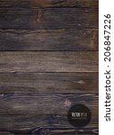 wood texture  vector eps10... | Shutterstock .eps vector #206847226