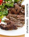beef with salad   Shutterstock . vector #206849236