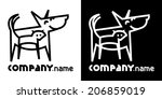 Stock vector identity icon with dog and cat 206859019