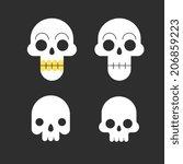 skulls  icons set | Shutterstock .eps vector #206859223