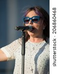 Small photo of LINCOLN, CA - July 19: Patty Smyth of Scandal performs in support of the Replay America Tour at Thunder Valley Casino Resort in Lincoln, California on July 19, 2014