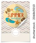 greeting card design  template | Shutterstock . vector #206865010