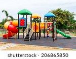 children's playground at public ... | Shutterstock . vector #206865850