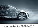 speeding abstract car | Shutterstock . vector #206876518