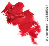 smudged red lipstick isolated...   Shutterstock . vector #206885014