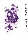 purple eye shadow isolated on...   Shutterstock . vector #206887213