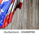 puerto rico flag with vertical... | Shutterstock . vector #206888980
