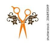 beauty salon symbol logo   Shutterstock .eps vector #206892049