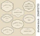 set of vintage frames | Shutterstock .eps vector #206893753