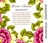 wedding invitation cards with... | Shutterstock . vector #206905930