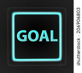 goal square icon on white... | Shutterstock . vector #206906803