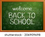 back to school written on... | Shutterstock .eps vector #206909698