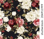 seamless floral pattern with... | Shutterstock .eps vector #206911999
