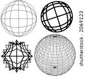 4 Original Globe Elements. Fro...